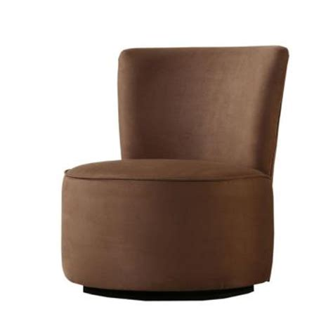 Microfiber Swivel Chair homesullivan brown microfiber swivel chair 40102s511w the home depot