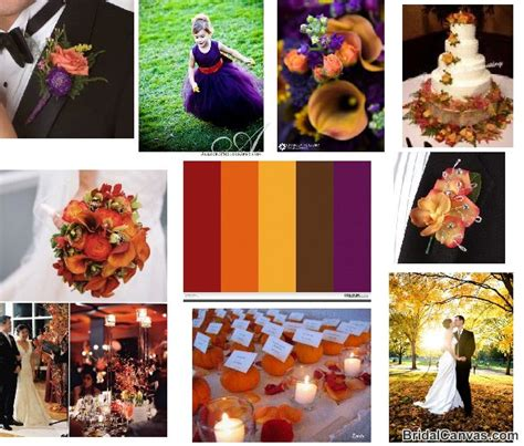 fall color schemes fall wedding color schemes