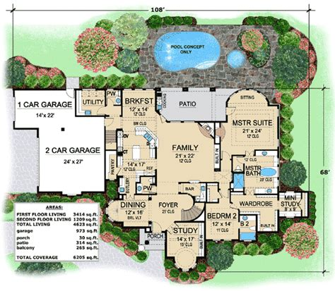 villa floor plan one of a luxury villa 36126tx architectural