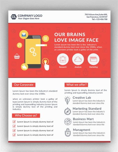 creative flyer templates free 25 professional corporate flyer templates design