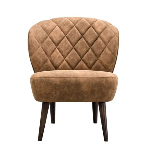 chaise a fauteuils fauteuil vita stof cognac