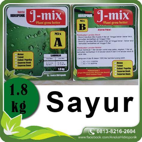 Nutrisi Ab Mix Hidroponik Sayur jual pupuk nutrisi ab mix hidroponik sayur j mix 1 8kg