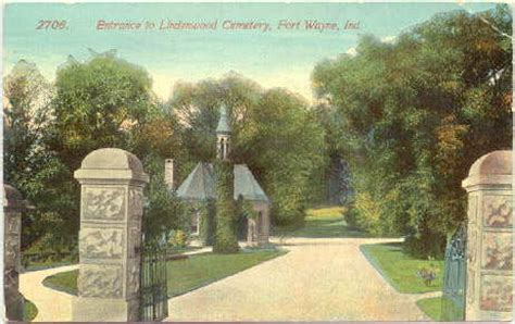 Wayne County Indiana Records Lindenwood Cemetery Allen County Indiana