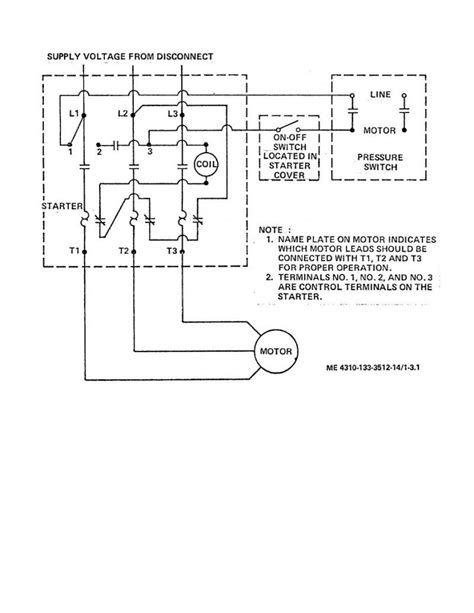 air compressor wiring diagram   phase  wiring