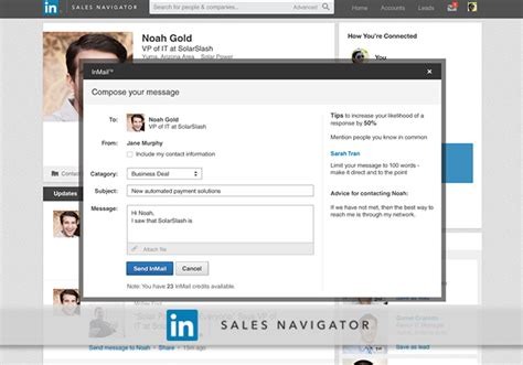 linkedin message template 3 secrets to inmail success linkedin sales solutions