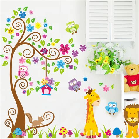 animal wall stickers animal wall sticker for free shipping worldwide