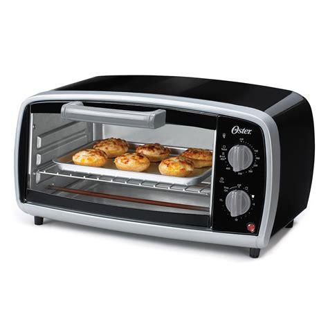 Four Slice Toaster Oven oster 174 4 slice toaster oven black at oster