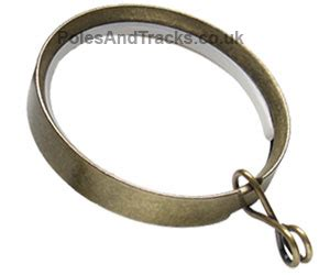 brass curtain rings 8 additional italia 35mm antique brass curtain rings