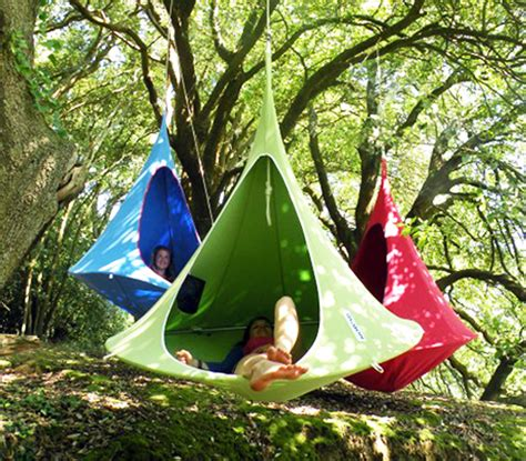 cocoon swing tent colorful hanging cacoon tents are dreamy treetop retreats