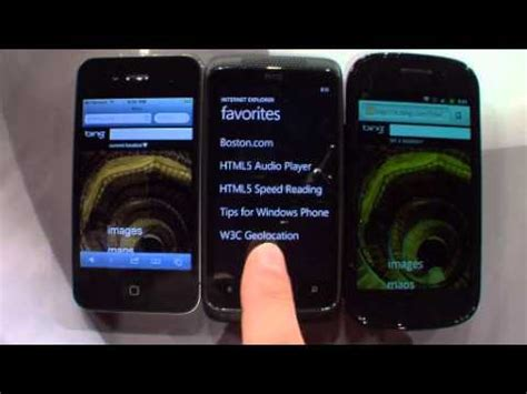 mobile speed test android html5 mobile speed test android iphone and windows phone 7 mango