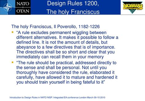 design rule meaning ppt introduction to design rules in nato nisp powerpoint