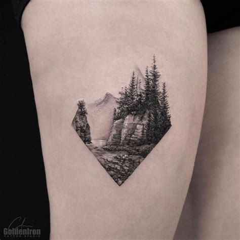 landscape tattoos best 25 landscape ideas on mountain