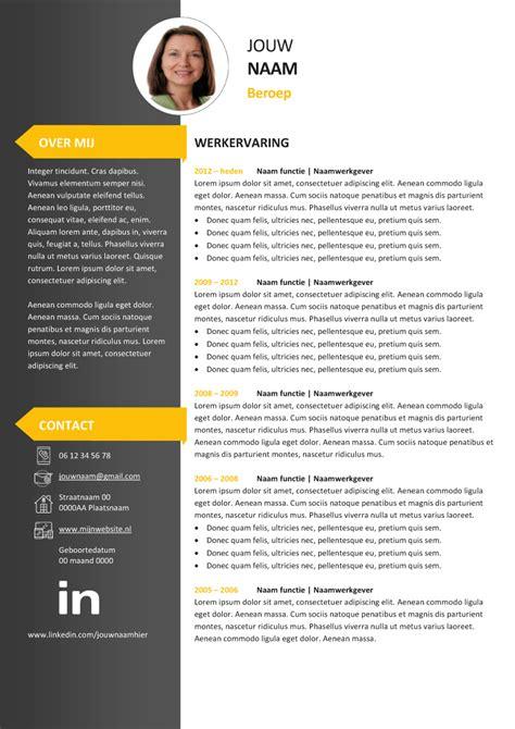 Curriculum Vitae Sjabloon Gratis Cv Sjabloon 18 En Motivatiebrief Direct Te Koop In Onze Webshop Product Is Downloadbaar