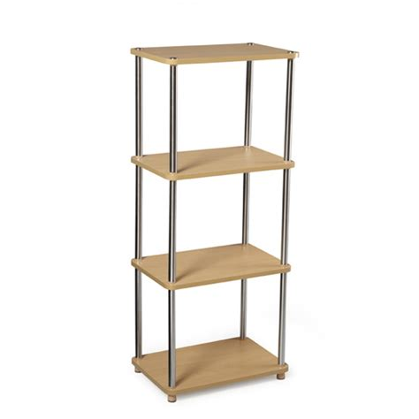 Free Standing Shelving Contemporary Free Standing Shelf Natural In Free
