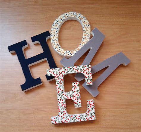 decoracion de letras de madera decoracion letras home