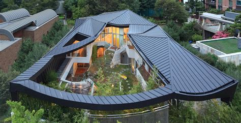 Modern Home Design Korea by Culturally Modern Ga On Jai Residence In South Korea By