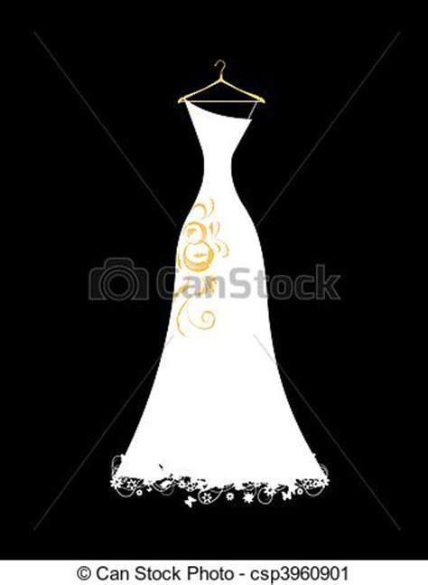 Bride Dress For Bridal Shower by Clip Art Vecteur De Mariage Robe Blanc Sur Cintres