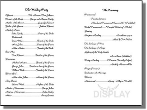 wedding church program templates free wedding program templates from thinkwedding s print your