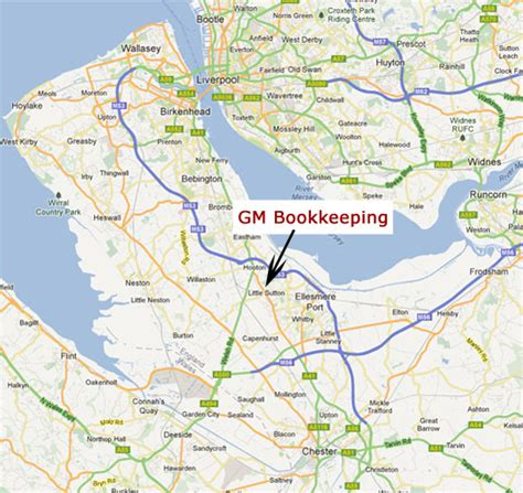 map of ellesmere port contact gm bookkeeping ellesmere port wirral chester
