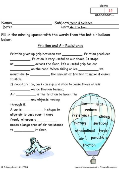 resistor reading worksheet primaryleap co uk friction and air resistance worksheet