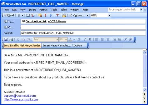 Outlook Email Search Software Mail Merge Sender For Outlook Screenshot Best Free Vista Downloads