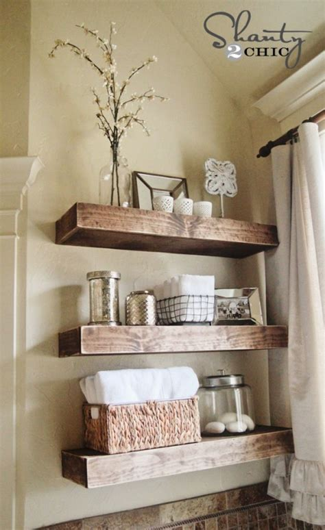 decorating with floating shelves 10 diy great ways to upgrade bathroom 7
