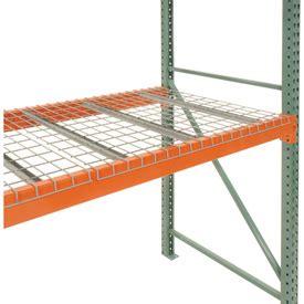 wire decking for pallet racks pallet rack accessories pallet rack wire decking 46 quot w x 48 quot d 2500 lbs cap gray 798657