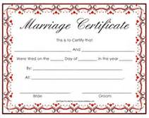 free printable marriage certificate template free marriage certificate