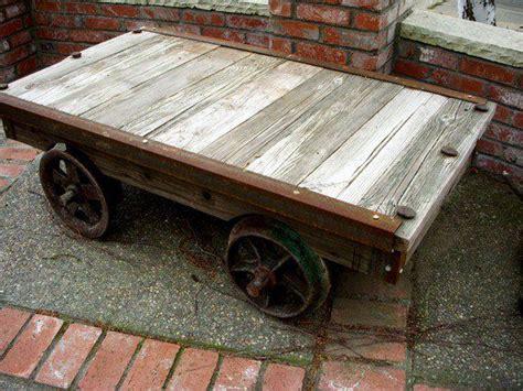 Railcar Coffee Table Rail Car Table Community Tables Pinterest