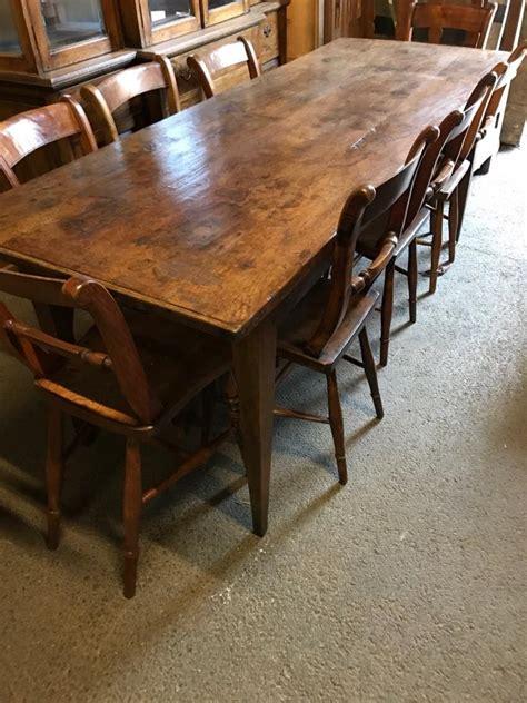 Antique Rustic Dining Table Oak Rustic Farmhouse Table Antique Tables Dining Tables Rustic Kitchen Table Rustic Oak