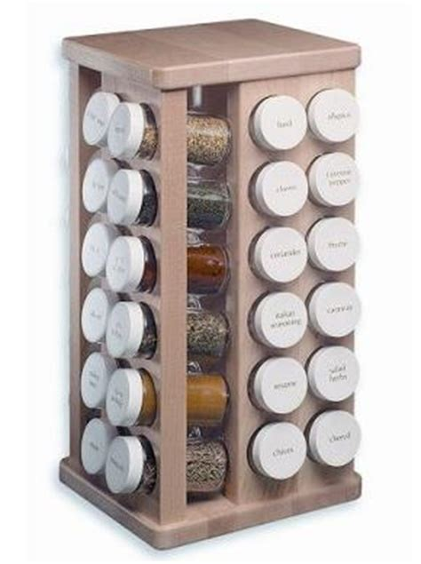 48 Jar Spice Rack 48 jar carousel spice rack made from maple wood home interior design themes