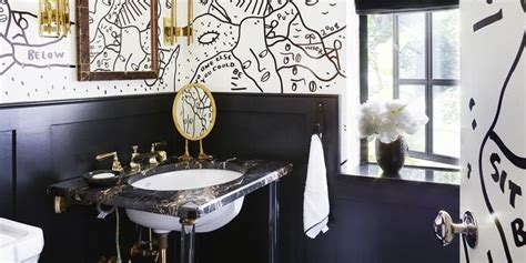 black and white bathroom decor design ideas tile on