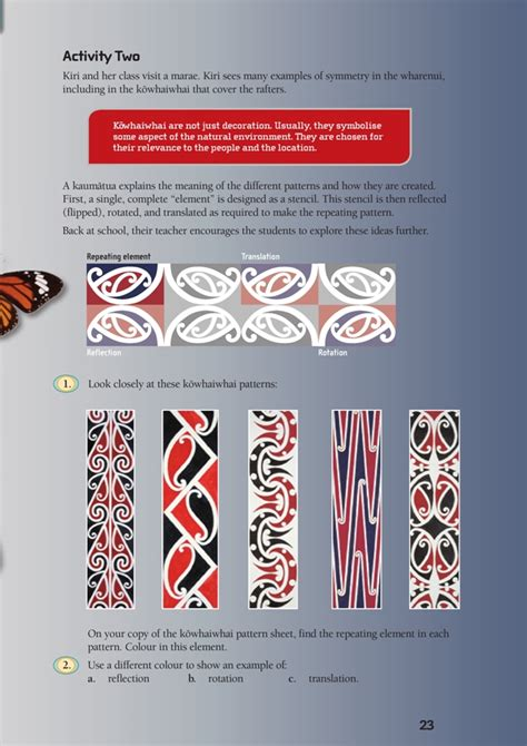 kowhaiwhai design meaning i spy symmetry nzmaths