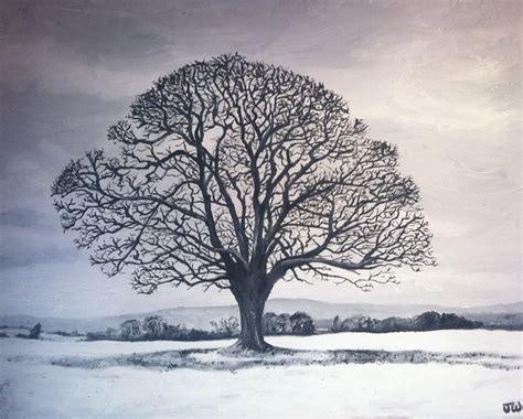 tree in snow joe wilson on canvas oak tree in snow
