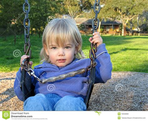 baby on swing baby on swing stock photo image 19359890