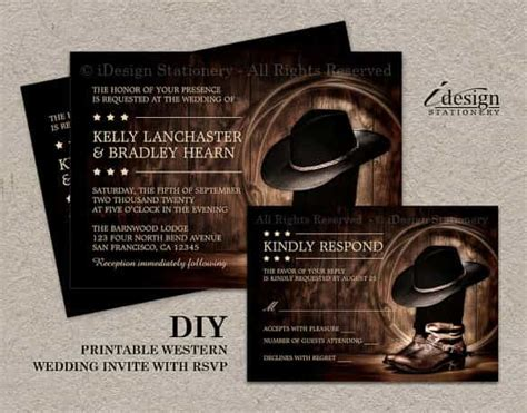 printable western wedding invitations free wedding invitation template 64 free printable word pdf