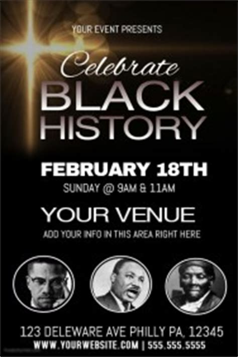 customizable design templates for black history month