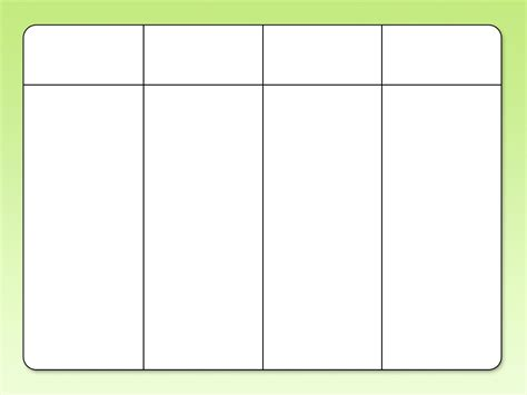 table chart template 9 best images of printable blank columns templates 4