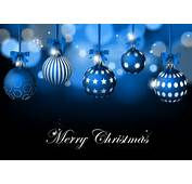 Blue Christmas Background With Baubles Vector