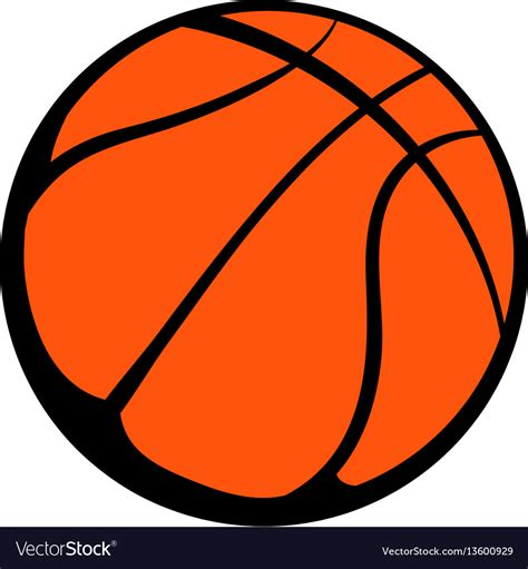 Basketball Clipart Vector Basketball Icon Icon Royalty Free Vector Image
