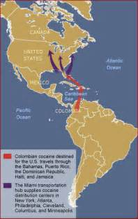 map of east coast usa and caribbean map colombia cocaine and east coast routes wide