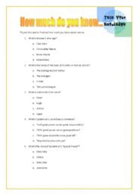 printable superhero quiz questions and answers english teaching worksheets superheroes