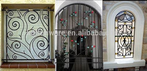 Simple Wrought Iron Window Grill Design India   GMM Home