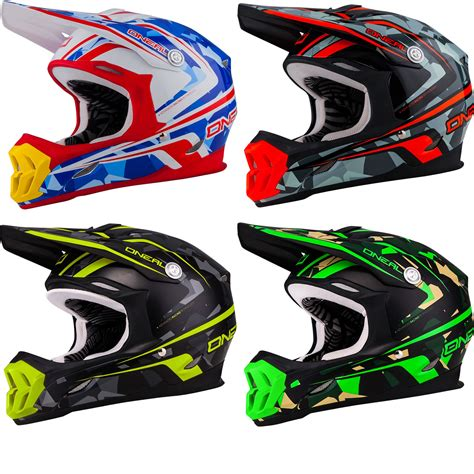 oneal motocross helmets oneal 7 series camo acu dot lightweight enduro jis mx