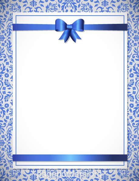 Wedding Borders Navy Blue by Blue Flower Clipart Blue Wedding Border