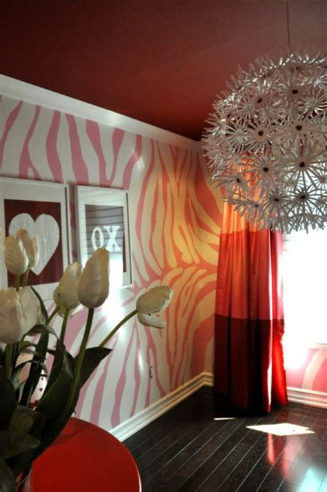 coole designs für schlafzimmerwände idee decke wall