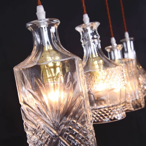 Glass Bottle Chandelier Glass Bottle Ceiling Lights Vintage Chandelier Pendant Light Lighting Ebay