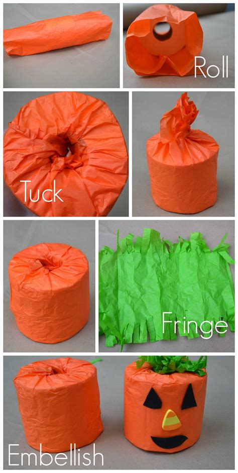 Toilet Paper Pumpkin Craft - toilet paper and decor newlywoodwards