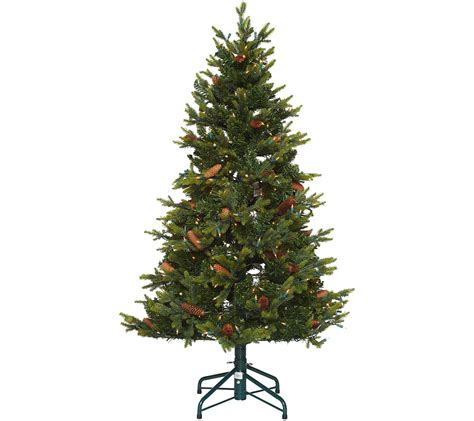 qvc christmas trees quot as is quot bethlehem lights 5 heritage spruce tree qvc
