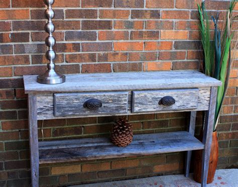 Rustic Hallway Table Gray Wood Hallway Table Gray Reclaimed Sofa Table Wood